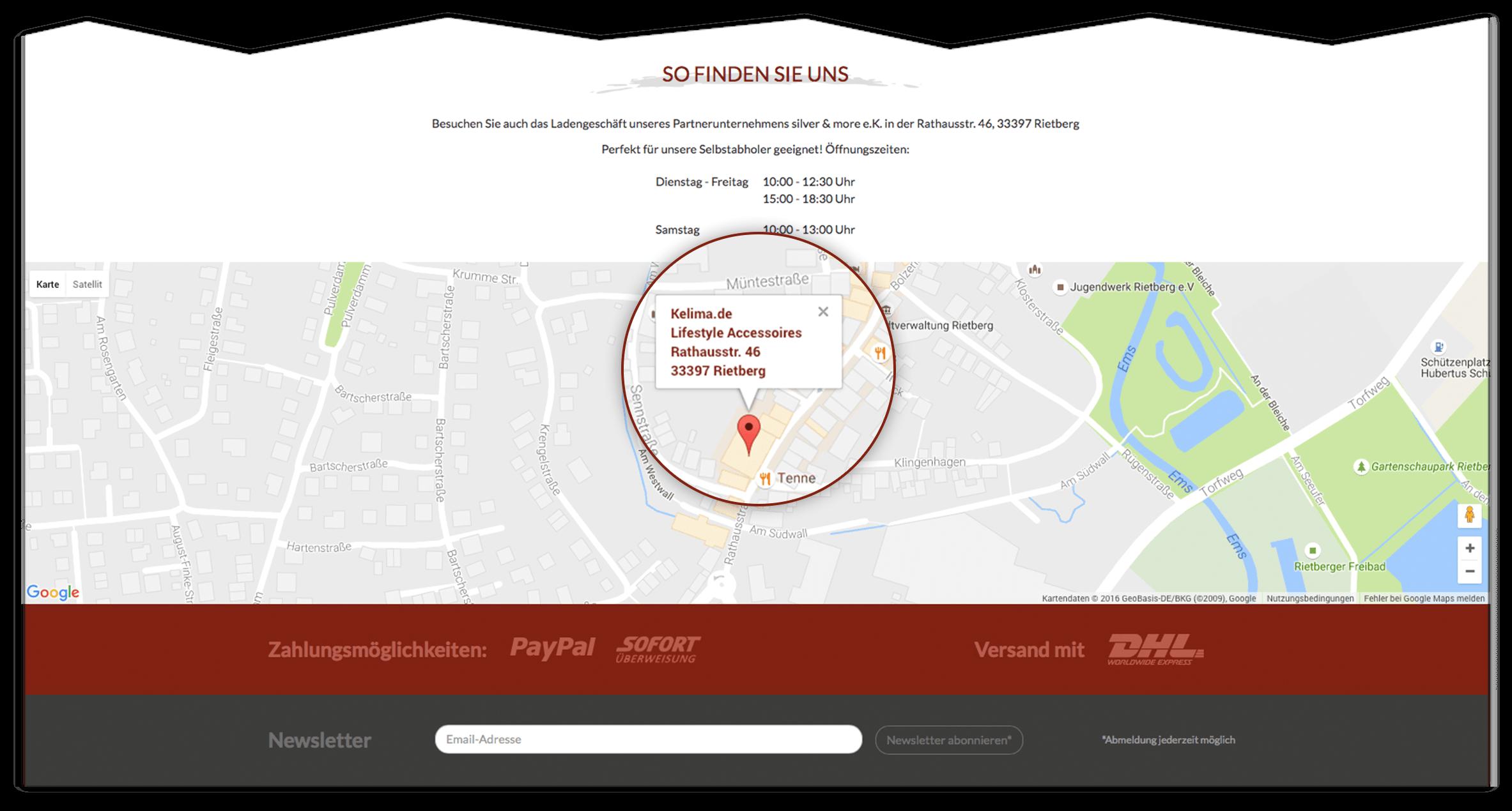 RIS Web- & Software Development - Projekte - Kelima - Maps