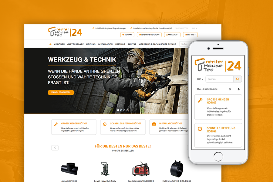 RIS Web- & Software Development - Projekte - THTec24