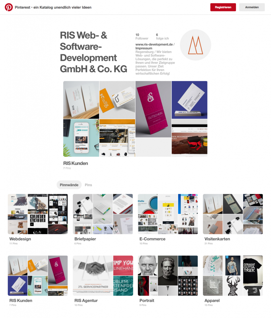 RIS Web- & Software Development - Pinterest Profil
