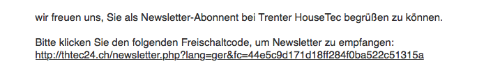RIS Web- & Software Development - Abmahnung? Nein, Danke! - Double-Opt-In