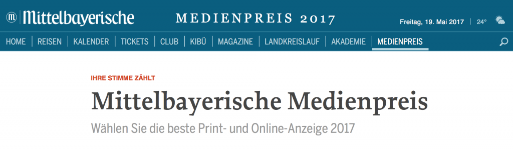 RIS Web- & Software Development - MZ Medienpreis 2017 - Abstimmung
