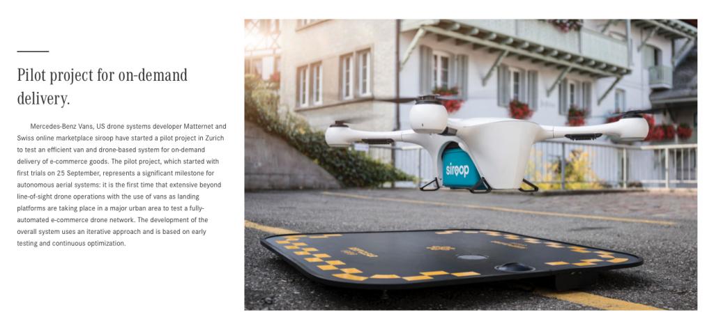 RIS Web- & Software Development - Paketlieferungen bald mit Drohne? Vans and Drones von Mercedes